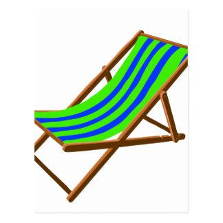 playa de madera rayada chair.png del verde azul tarjetas postales