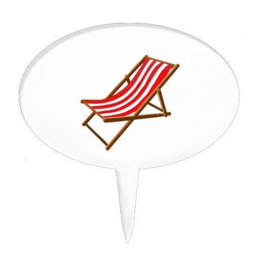 playa de madera rayada roja chair.png decoraciones de tartas