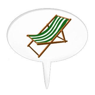 playa de madera rayada verde oscuro chair.png decoración para tarta