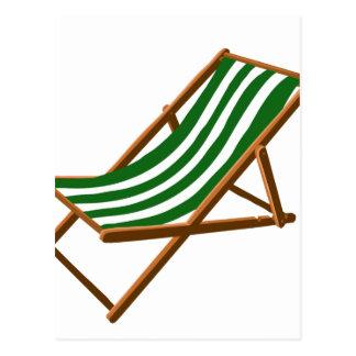 playa de madera rayada verde oscuro chair.png tarjeta postal