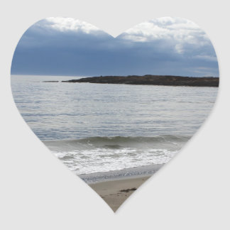 Playa de Maine Pegatina En Forma De Corazón