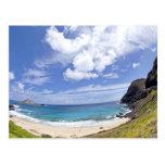 Playa de Makapuu en Oahu, Hawaii Postal