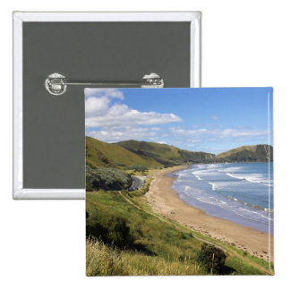 Playa de Makorori cerca de Gisborne, Eastland, nue Pins