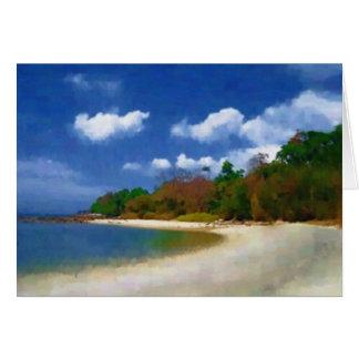 Playa de Malasia Tarjeta De Felicitación