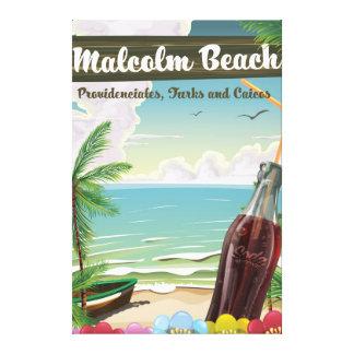 Playa de Malcolm, Providenciales, turcos y Caicos Impresión En Lienzo