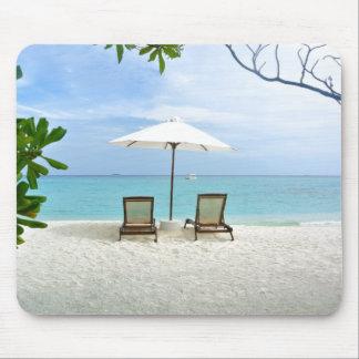 Playa de Maldivas Alfombrilla De Ratón