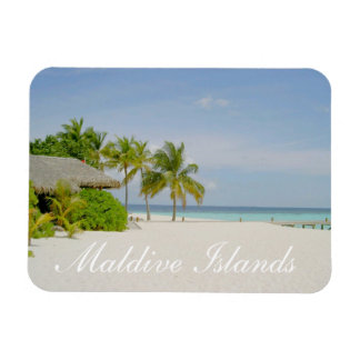 Playa de Maldivas e imán de la casa de planta baja
