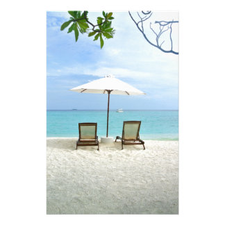 Playa de Maldivas Personalized Stationery