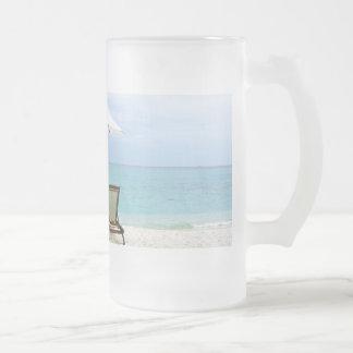 Playa de Maldivas Taza De Cristal