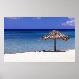 Playa de Malmok, Aruba, Antillas holandesas Póster