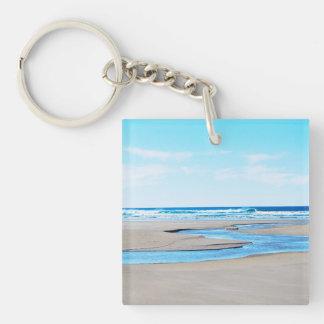 Playa de Manzanita - costa costa Llavero Cuadrado Acrílico A Doble Cara