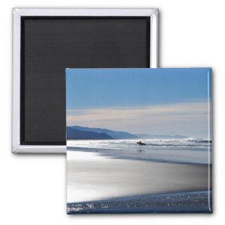 Playa de Manzanita - practicando surf en Oregon Imanes De Nevera