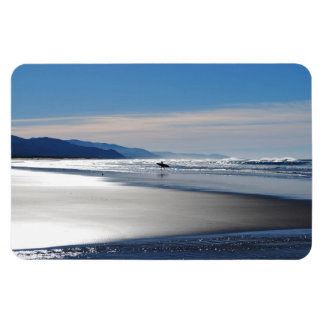 Playa de Manzanita - practicando surf en Oregon Imán Rectangular