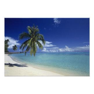 Playa de Matira en la isla de Bora Bora, 2 Impresiones Fotograficas
