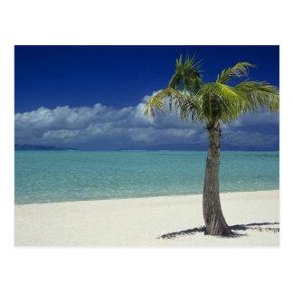Playa de Matira en la isla de Bora Bora, 2 Postal