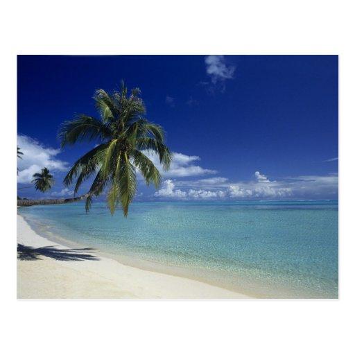 Playa de Matira en la isla de Bora Bora, Postal
