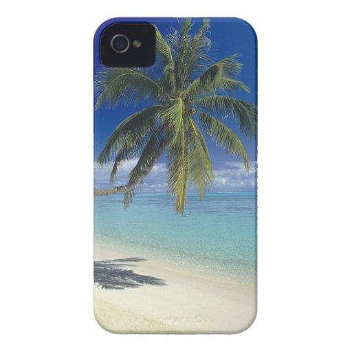 Playa de Matira en la isla de Bora Bora, sociedad iPhone 4 Case-Mate Cobertura