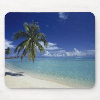 Playa de Matira en la isla de Bora Bora, Alfombrilla De Ratón