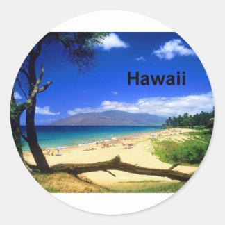 Playa de Maui Hawaii Kihei (St.K.) Pegatina Redonda