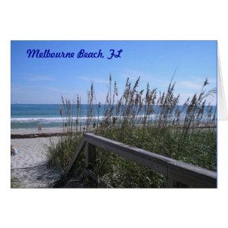 Playa de Melbourne, FL Tarjeta Pequeña