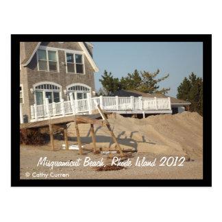 Playa de Misquamicut, Rhode Island después del hur Postal