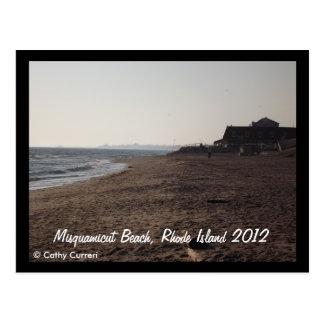 Playa de Misquamicut, Rhode Island después del hur Postales