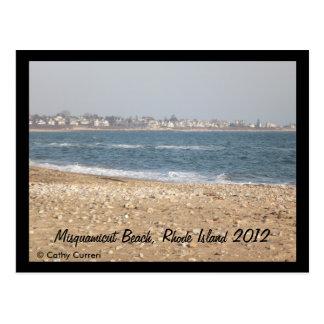 Playa de Misquamicut, Rhode Island después del Postal