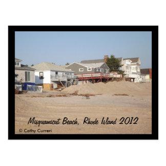Playa de Misquamicut, Rhode Island después del Tarjeta Postal
