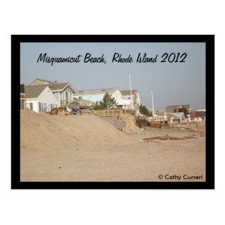 Playa de Misquamicut, Rhode Island después del Tarjetas Postales