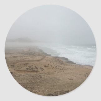 Playa de Mughsayl (Salalah Omán) Pegatina Redonda