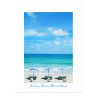 Playa de Naiharn, isla de Phuket Tarjeta Postal
