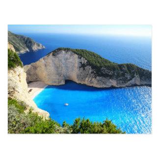 Playa de Navagio, Zakynthos, Grecia Tarjeta Postal