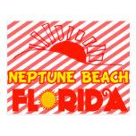 Playa de Neptuno, la Florida Tarjeta Postal