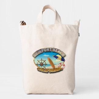Playa de Newport, California Bolsa De Lona Duck