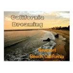 Playa de Newport en Corona del Mar Tarjetas Postales