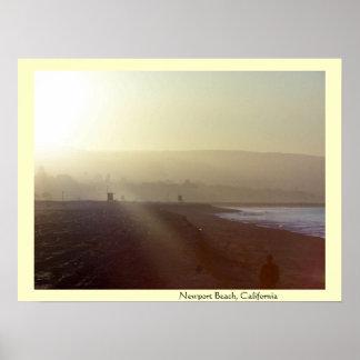 Playa de Newport, impresión de la salida del sol d Impresiones