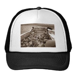 Playa de Normandía en día D Gorros Bordados