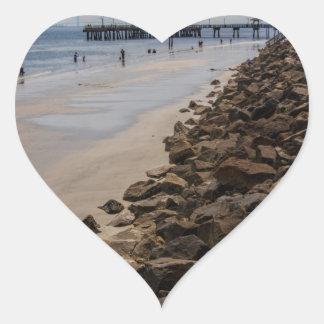 Playa de Océano Atlántico Georgia de la barrera Pegatina En Forma De Corazón