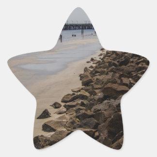 Playa de Océano Atlántico Georgia de la barrera Pegatina En Forma De Estrella