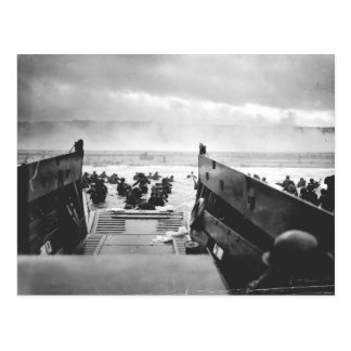 Playa de Omaha, Normandía, día D 1944 Tarjeta Postal