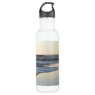 Playa de Ormond de la puesta del sol de la playa