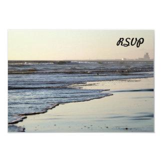 """Playa de Ormond de la puesta del sol de la playa Invitación 3.5"""" X 5"""""""