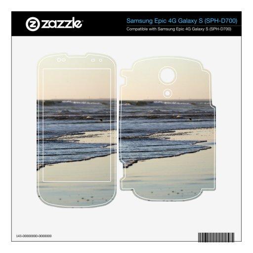 Playa de Ormond de la puesta del sol de la playa Samsung Epic Calcomanía