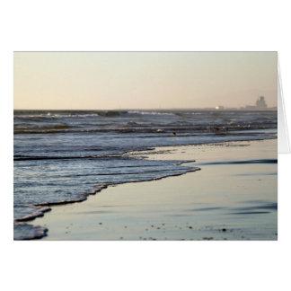 Playa de Ormond de la puesta del sol de la playa Tarjeta De Felicitación