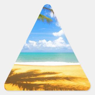Playa de oro calcomanía de trianguladas