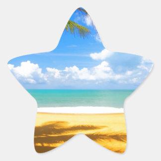 Playa de oro pegatina en forma de estrella