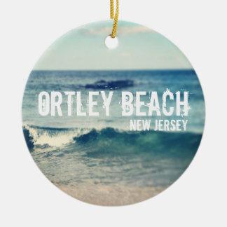 Playa de Ortley - 2013 - recuperación en la orilla Adorno Redondo De Cerámica