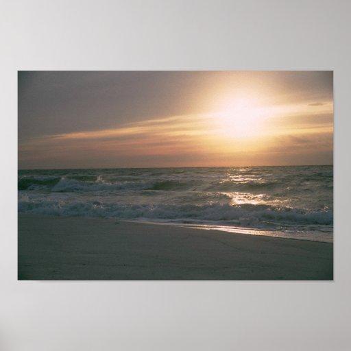 Playa de Pensacola del la de salida del sol en del Póster