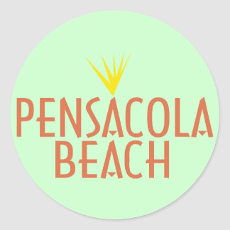 Playa de Pensacola Pegatina Redonda