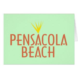 Playa de Pensacola Tarjeta De Felicitación